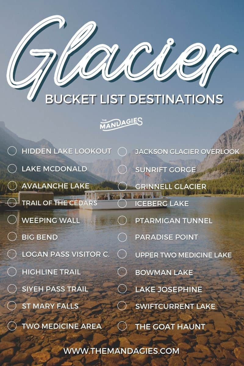 Discover all the best things to do in Glacier National Park! We're sharing a Glacier bucket list to inspire your next trip to Montana, including famous stops like lake Mcdonald, Logan Pass, Going To The Sun Road, and Many Glacier area! #montana #glacier #glaciernationalpark #nationalparktravel #rockymountains #USA #camping #roadtrip #loganpass #lakemcdonald #travel