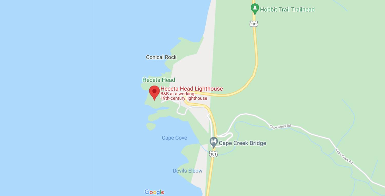 Heceta Head Lighthouse Map