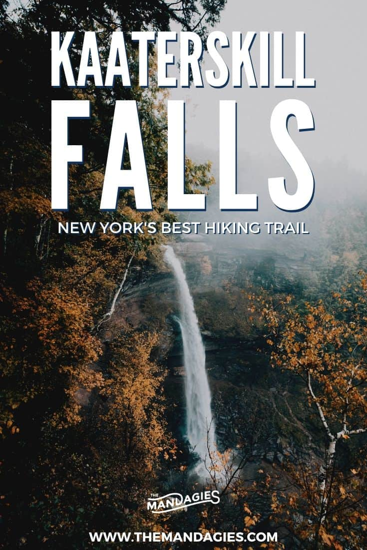 Ready to discover one of the best hikes in Upstate New York? We're sharing Kaaterskill Falls Hike and everything you need to know about this Hudson Valley trail. #newyork #upstatenewyork #hiking #hudsonvalley #fallhikes #kaaterskillfalls