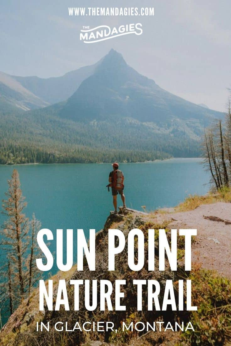 Sun Point Nature Trail is one of teh most beautiful hikes in Montana! With possible extension to St Mary Falls Trail and lake jumps, this is a can't-miss thing to do in you Glacier National Park itinerary! #montana #glaciernps #glaciernationalpark #nationalpark #lake #sunrise #ravel #westernUSA #photography #landscape #mountains #USA