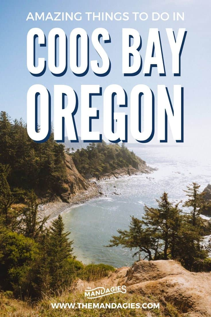 Discover one of the best stops on the Oregon Coast - Coos Bay! We're sharing all the epic things to do in Coos Bay, Oregon, including Cape Arago Lighthouse, Face Rock, and even Coos Bay Camping! Click here to start planning your Oregon Road Trip itinerary. #oregon #themandagies #PNW #pacificnorthwest #oregoncoast #coosbay #lighthouse #bandonbeach #travel #landscapephotography #weekendgetaway