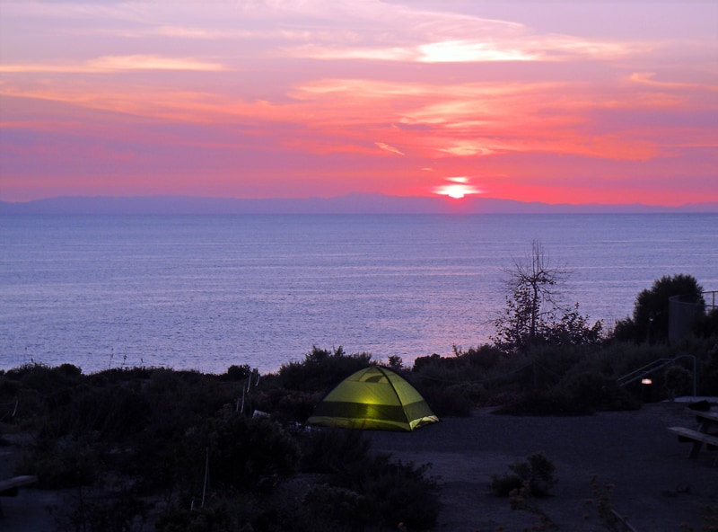 Camping at Crystal Cove State Park