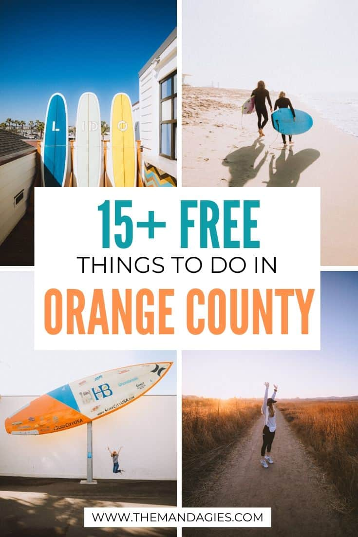Planning a trip to The OC? To balance out those pricey trips to Disneyland and more, we're sharing free things to do in Orange County, California! #california #southerncalifornia #orangecounty #TheOC #pacificocean #huntingtonbeach #travel #westernUSA #photography #landscape #lagunabeach #USA