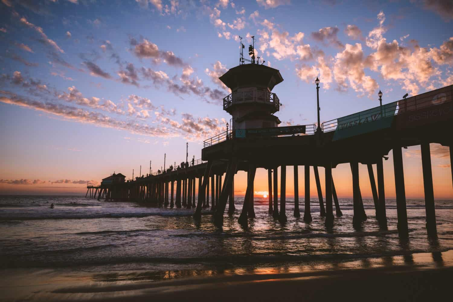 Sunset On Huntington Beach Pier - TheMandagies.com