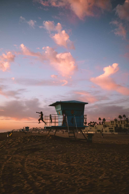 Sunset at Huntington Beach - TheMandagies.com