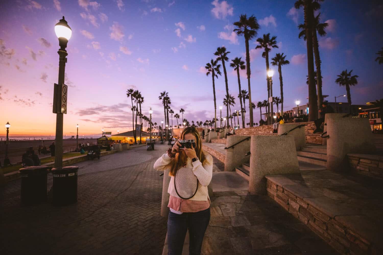 Sunset at Huntington Beach Pier - TheMandagies.com