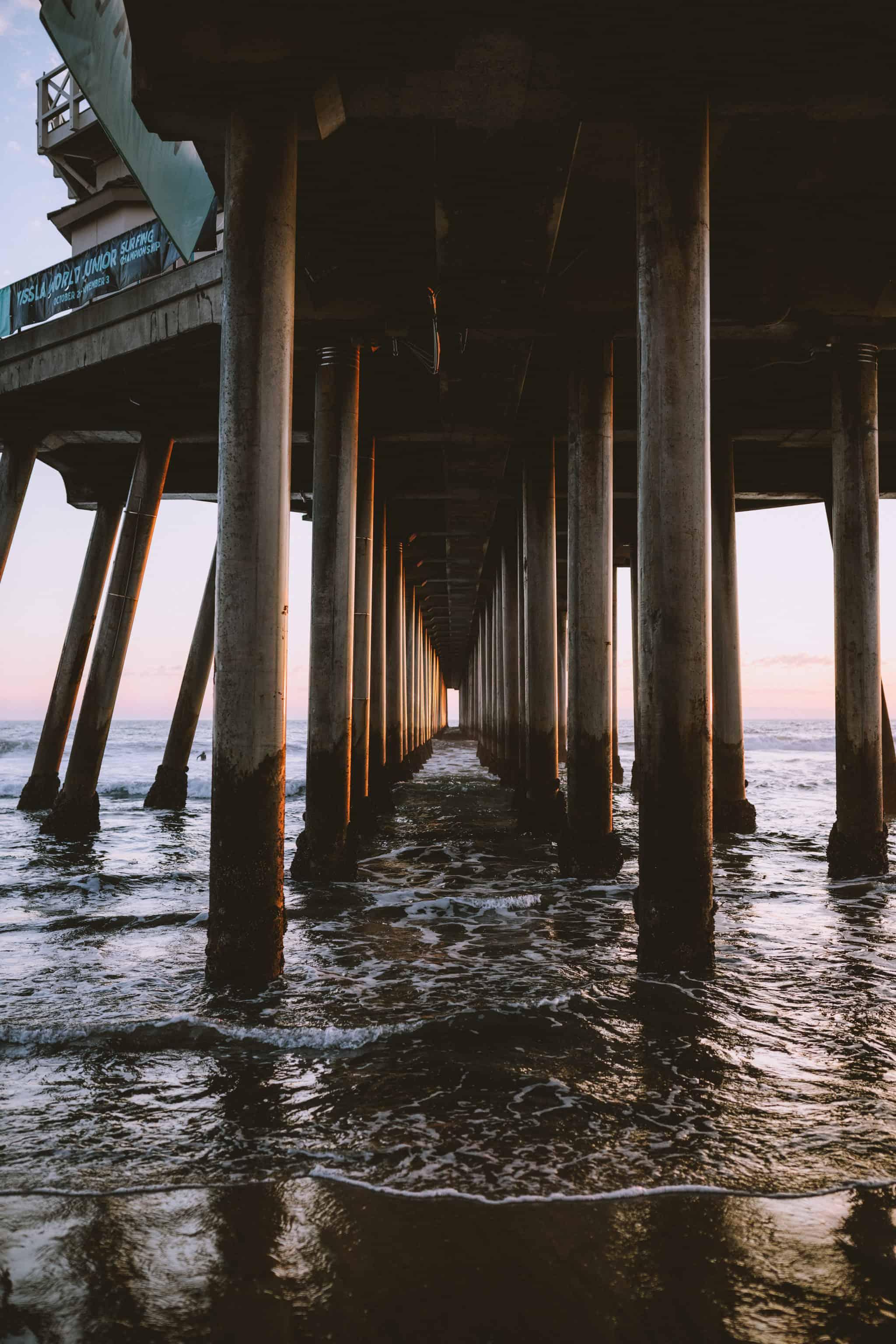 Huntington Beach Pier - Photo Under the Pier - TheMandagies.com
