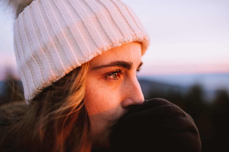 Emily Mandagie at Quartz Mountain Lookout during sunset
