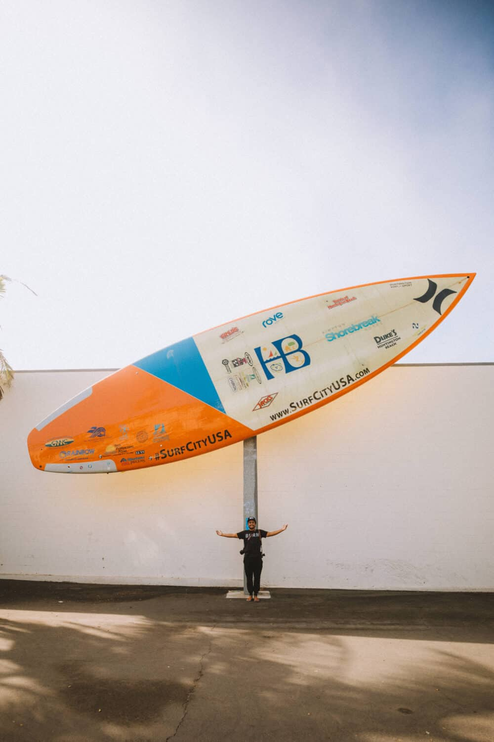 See The World's Largest Surfboard at Huntington Beach