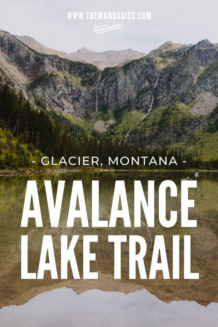 Ready for a fun and easy hiking trail in Glacier National Park, Montana? Try Avalanche Lake Hike, one of the first trails in Glacier! We're sharing parking tips, Trail of the Cedars, and lots more facts here! #montana #glaciernps #glaciernationalpark #nationalpark #lake #sunrise #travel #westernUSA #photography #landscape #mountains #USA