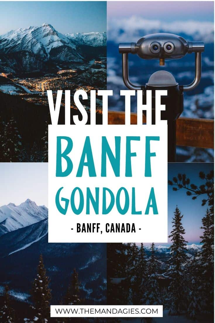 Want to experience Banff and learna bout the surrounding mountains and beautiful scenery? Take the Banff Gondola up to Sulphur Mountain and see what awaits you at the top! #canada #banff #banffnationalpark #banffgondola #scenicchairlift #sunset #travel #alpenglow #photography #mountains