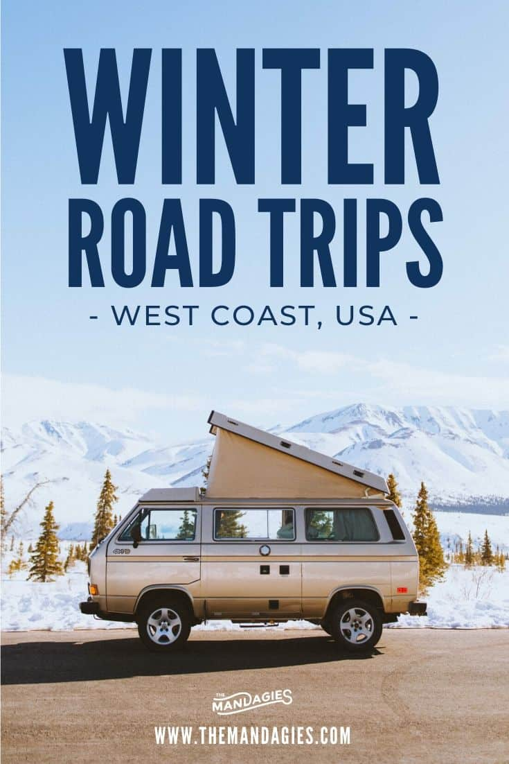 Don't let the snow scare you! Take these 10 winter road trip routes to keep the adventure going all year long! We're sharing the best winter drives in the USA and Canada here... #roadtrip #winterdrives #winterroadtrip #winter #wintertrip #wintervacation #winterravel #westernUSA #canada #snow #mountains #USA