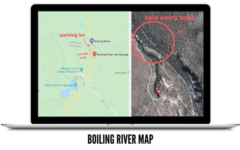 Boiling River Map in Wyoming - TheMandagies.com