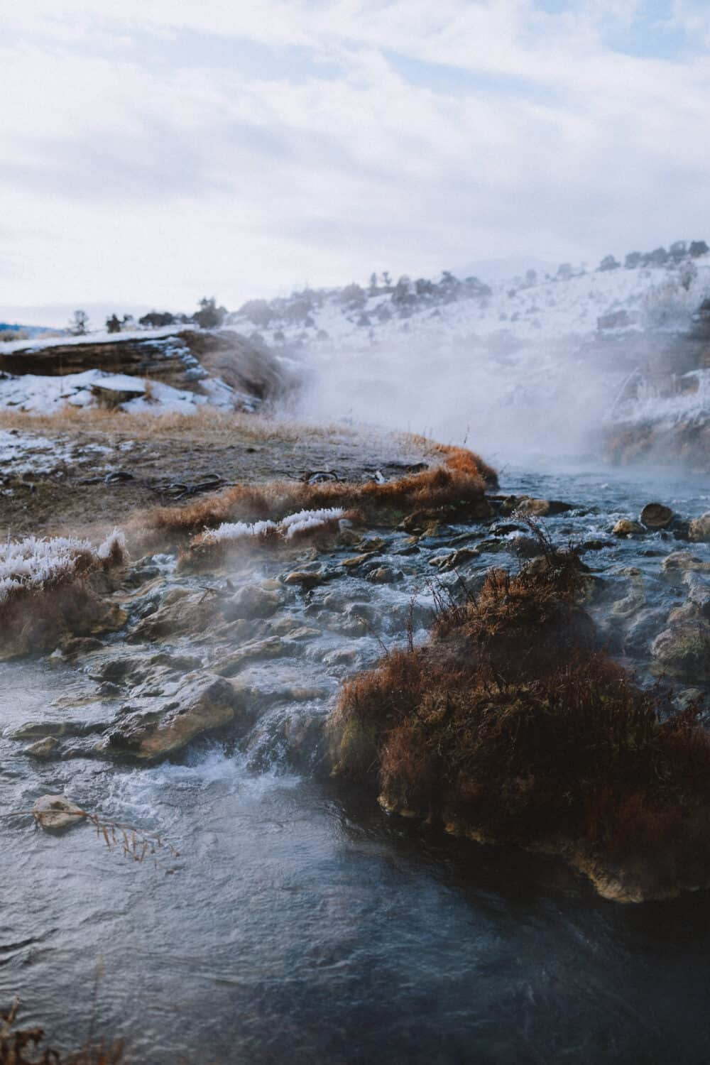 The Boiling River Hot Springs - Yellowstone National Park Wyoming - TheMandagies.com