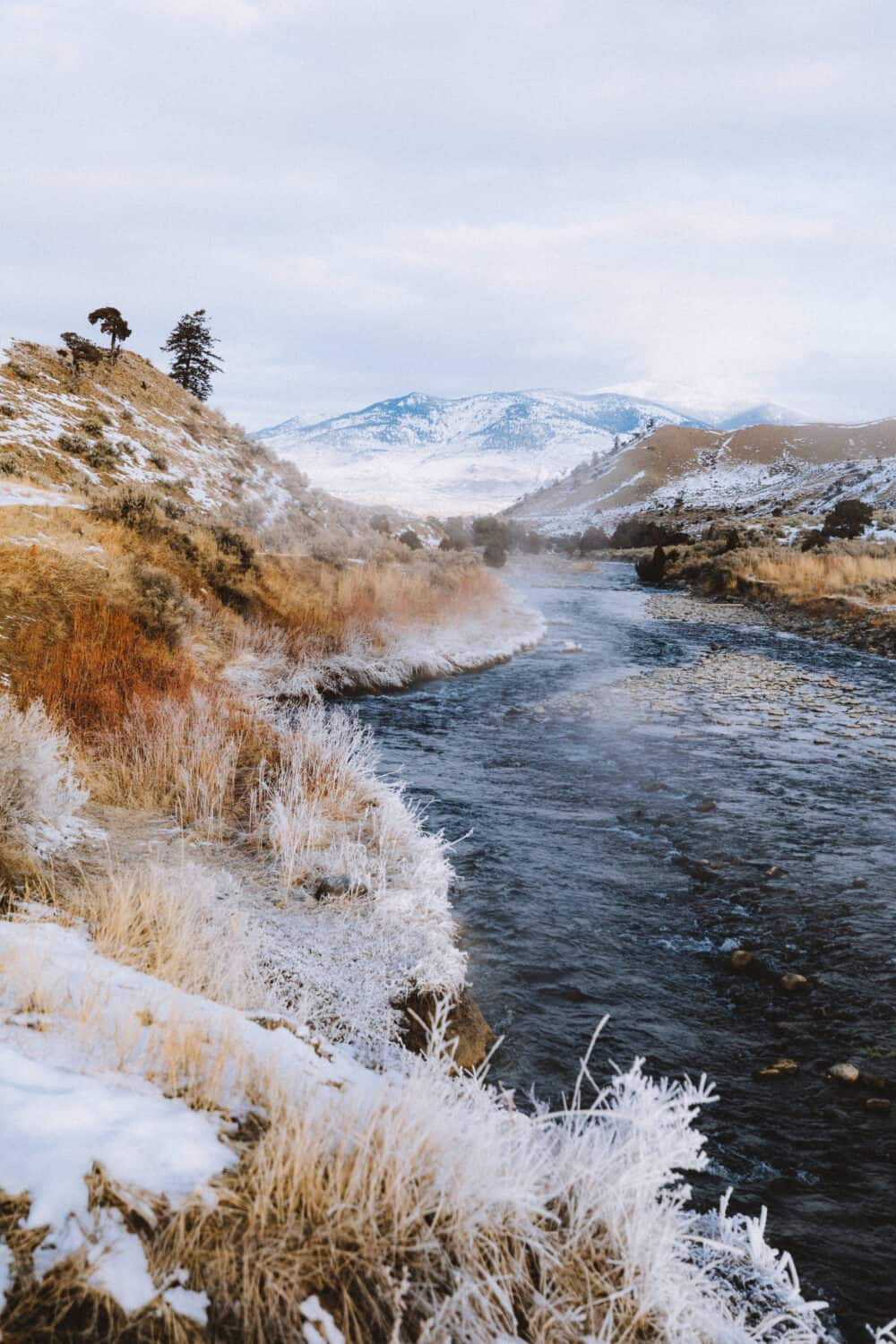 View of the Gardner River (The Boiling River) in Yellowstone National Park - TheMandagies.com