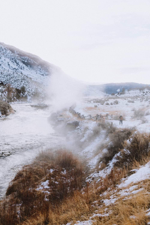 Steam from Gardiner River, Wyoming - TheMandagies.com
