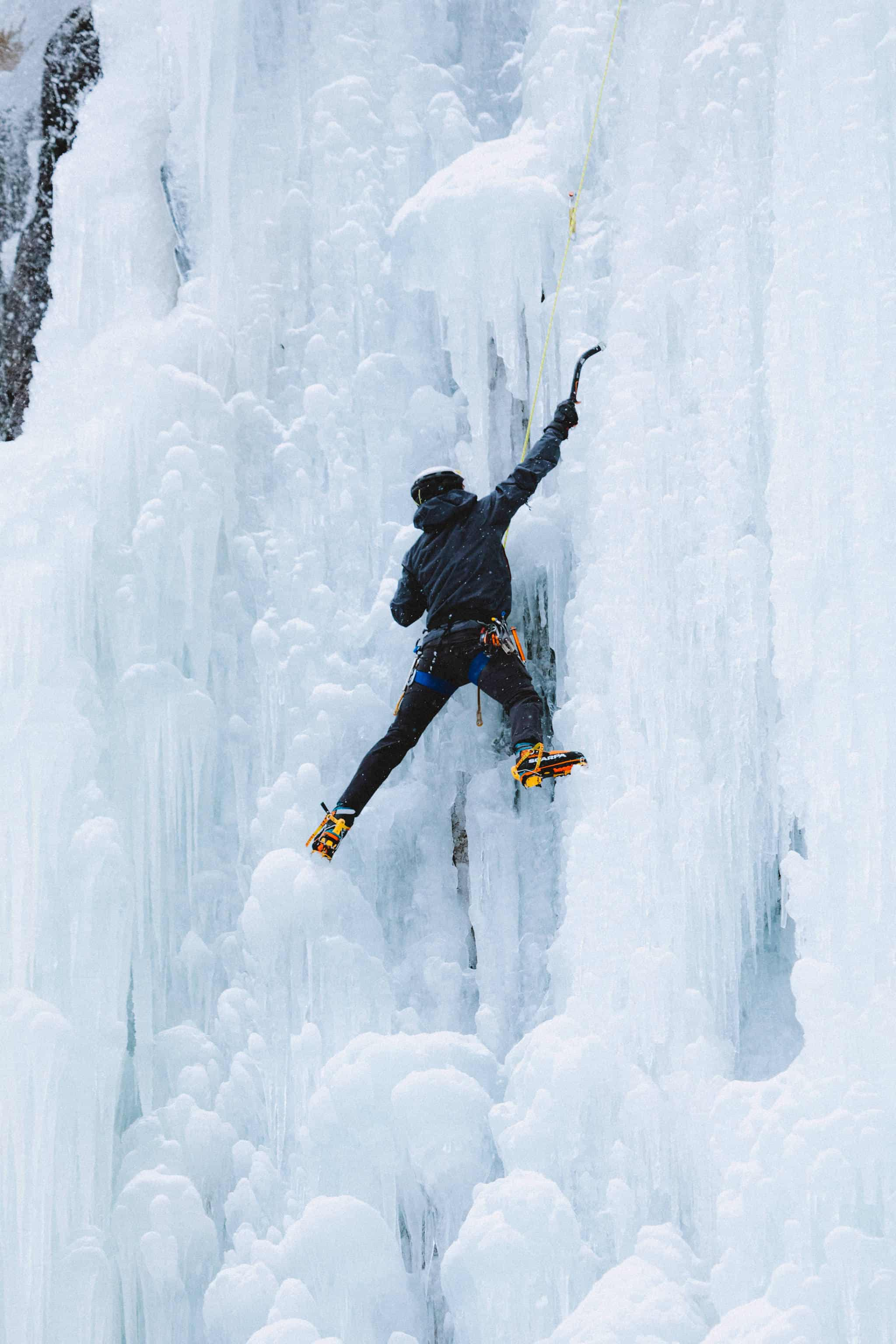 Things to do In Bozeman In Winter - Ice Climbing at Hyalite Canyon - TheMandagies.com
