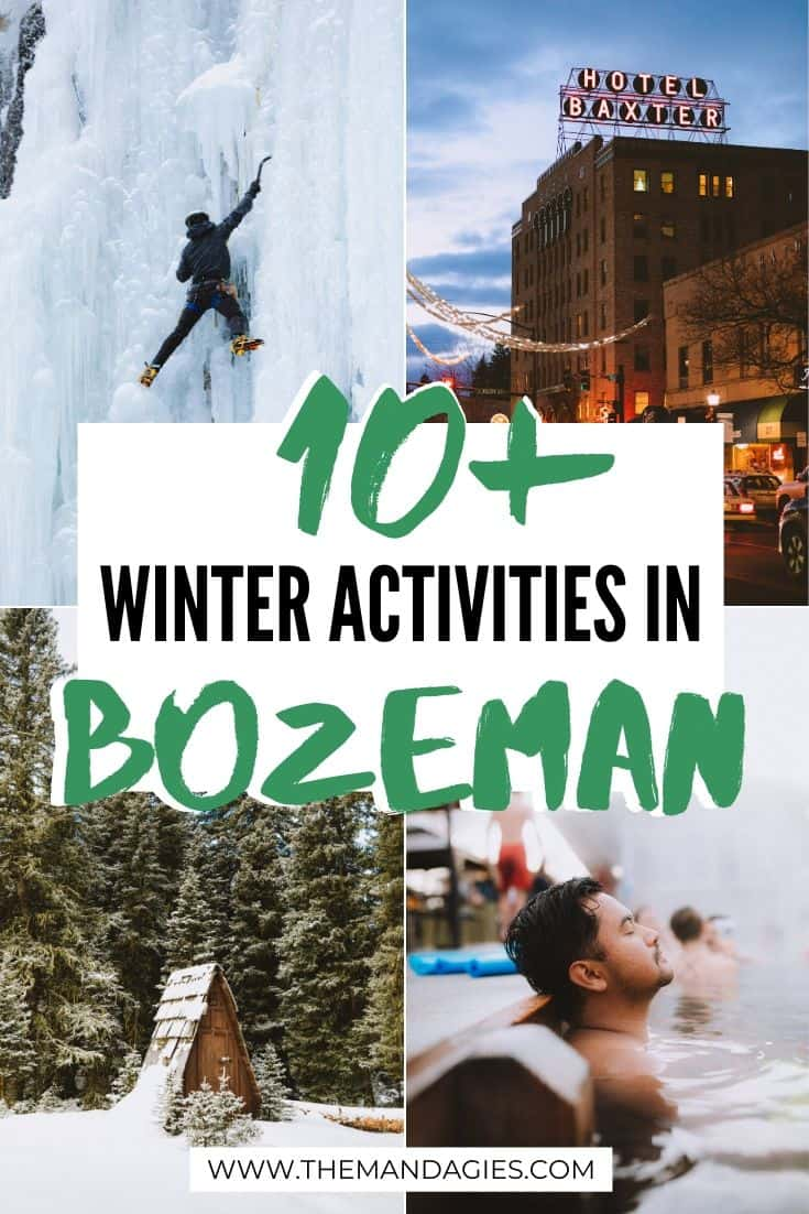 Looking for the best things to do in Bozeman, Montana in winter? We're sharing everything from ski resorts, hot springs, breweries and so much more to enjoy this winter on your Montana vacation! #montana #bozeman #BozemanMT #winter #vacation #hotsprings #travel #southwestmontana #photography #landscape #mountains #USA