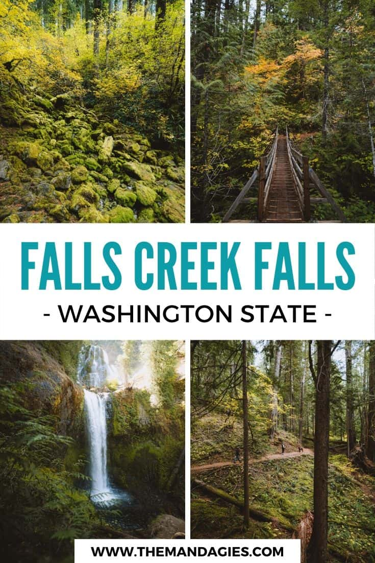 Ready to discover a new Washington waterfall hike? Consider exploring Falls Creek Falls trail, a quintessential Pacific Northwest hike deep in the forest! We're sharing everything we know here, let's get started! #washington #waterfall #PNW #pacificnorthwest #hiking #washingtonstate #ravel #westernUSA #photography #landscape #mountains #USA