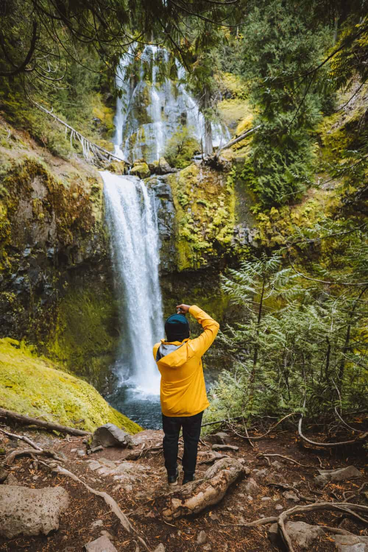 Berty Mandagie photographing Falls Creek Falls - TheMandagies.com