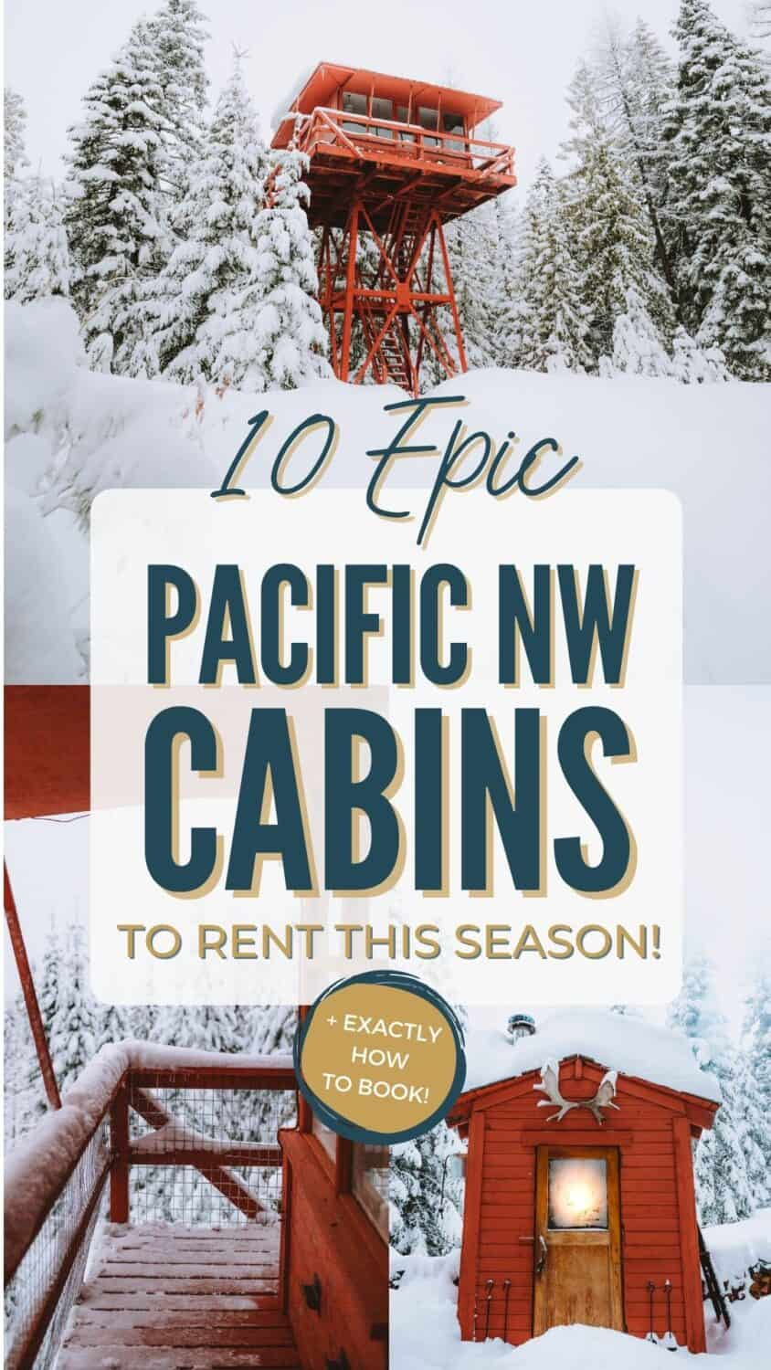 Looking for a cozy getaway this season? We're sharing the best Pacific Northwest cabins for rent, from tiny homes, treehouses, cozy cabins and more! #cabins #PNW #pacificNorthwest #cozycabin #sanjuanislands #columbiariver #oregon #washington #idaho #vacationrental #travel #montana #Britishcolumbia #rental #cabin