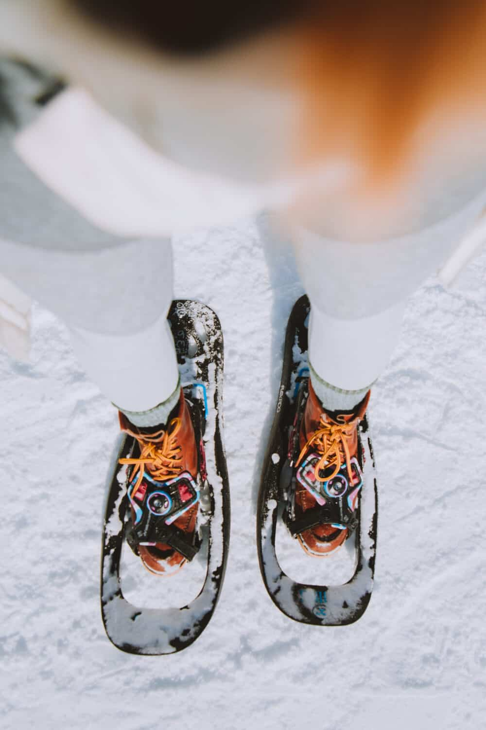 View of Tubbs Snowshoes in Wyoming in the winter - TheMandagies.com