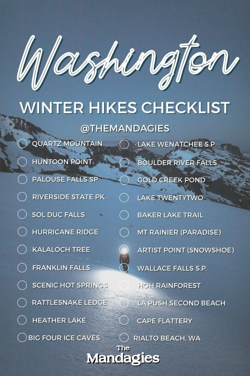 Winter Hikes In Washington Bucket List - TheMandagies.com