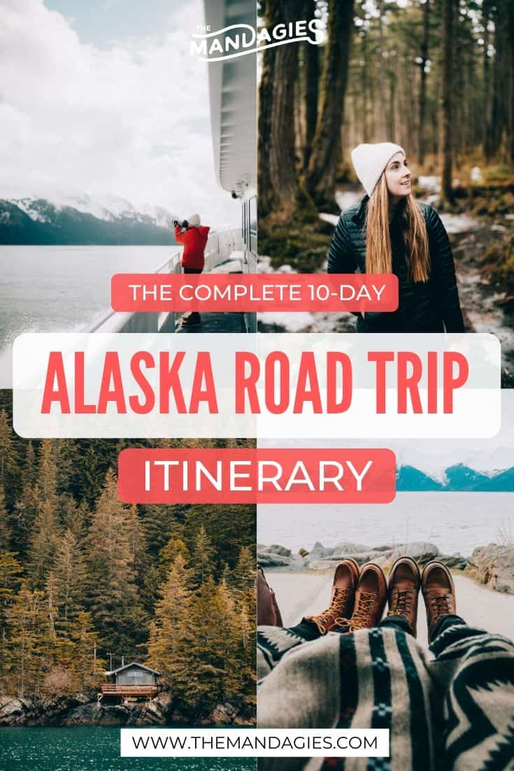 Looking for the best way to explore Alaska? We're sharing the ultimate Alaska road trip itinerary, with stops in Fairbanks, Anchorage, Seward, and Denali National Park! Save this post for planning your next 10 days in Alaska for the best trip of the summer! #alaska #fairbanks #anchorage #seward #kenaifjords #lastfrontier #travel #denalinationalpark #photography #denali #mountains #USA #roadtrip