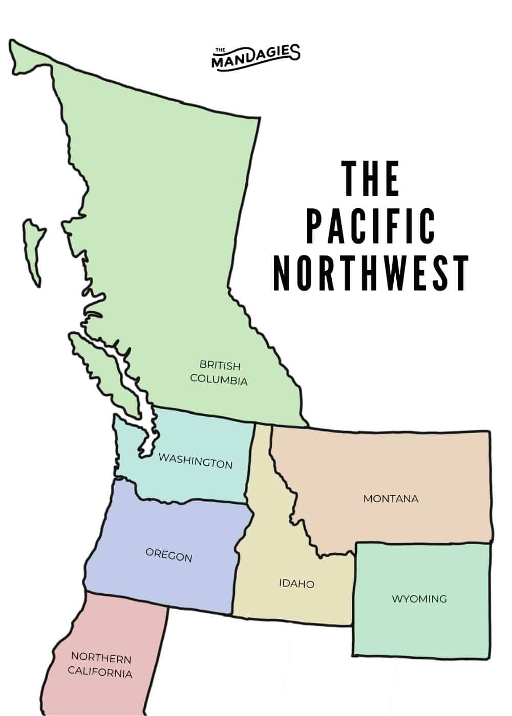 Map of The Pacific Northwest