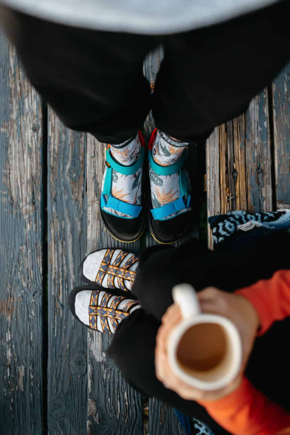 Berty and Emily Mandagie wearing Teva Sandals in the Pacific Northwest