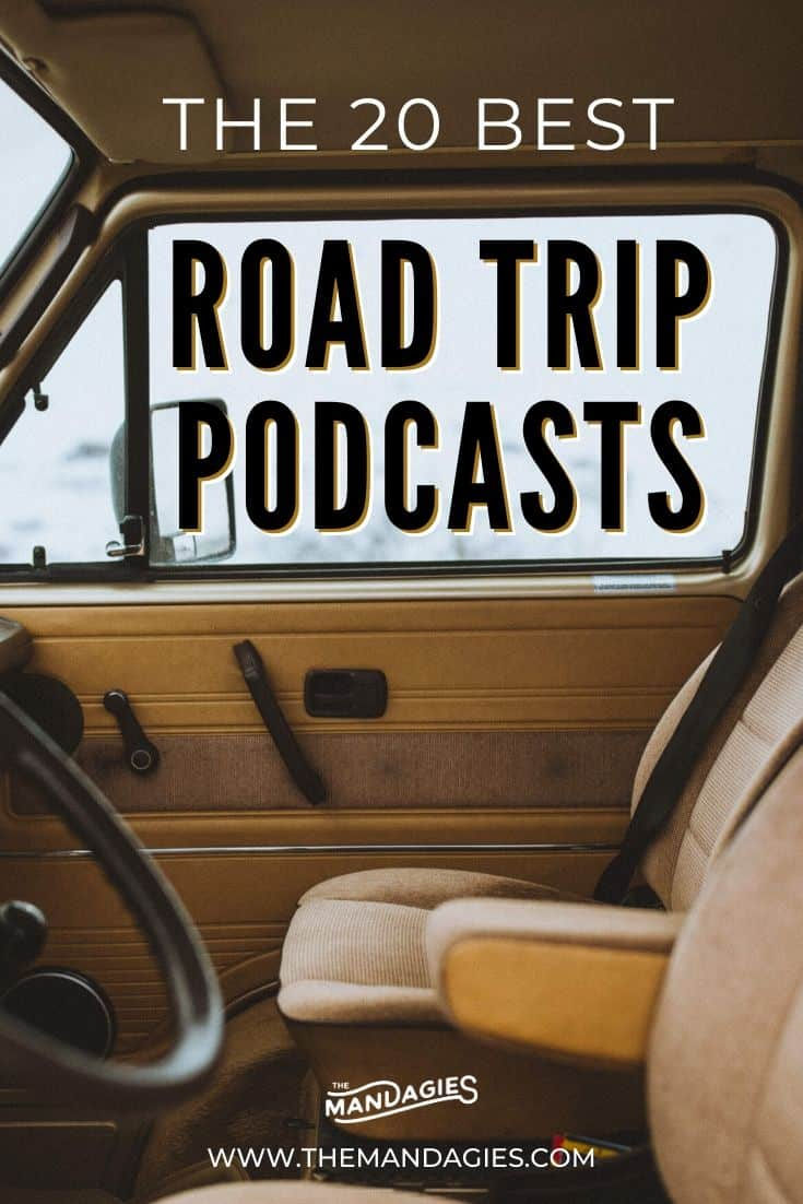 Looking for the best podcasts for a road trip? We're sharing our master list, filled with true crime, pop culture, business tips and so much more! #podcast #roadtrip #audiobooks #audible