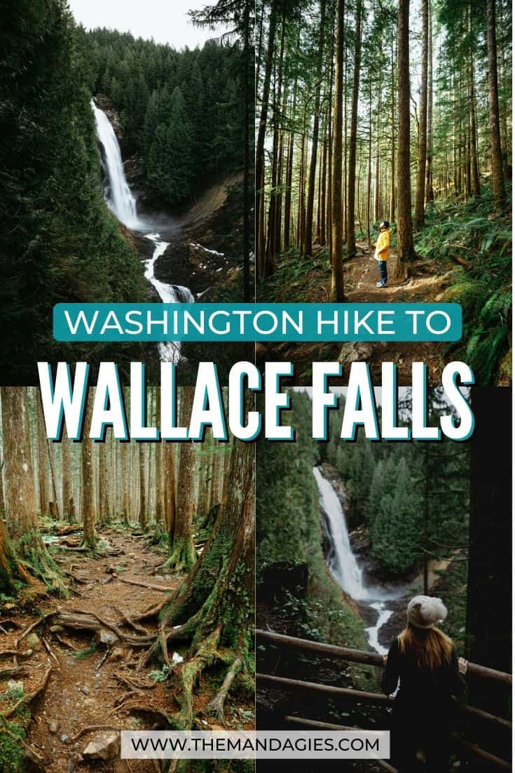Discover the quintessential Pacific Northwest experience along the Wallace Falls hike! From tall evergreen trees, wooden bridges, and amazing waterfall views, we're sharing what to expect on this amazing Washington waterfall hike. #PNW #pacificnorthwest #hiking #washingtonstate #ravel #westernUSA #photography #landscape #mountains #USA