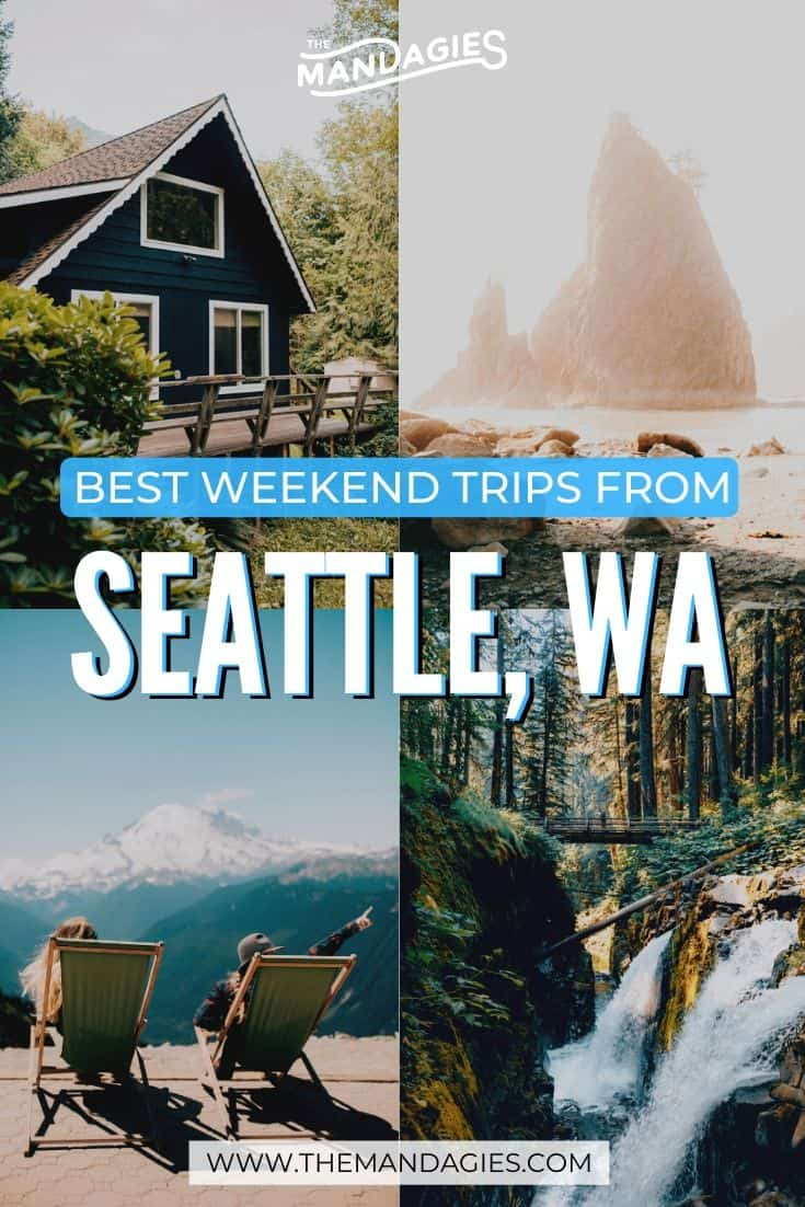 Planning one of your perfect weekend getaways from Seattle? There are so many amazing PNW destinations to choose from! We're breaking down the best ones here, and why they should be added to your calendar ASAP! #washington #waterfall #PNW #pacificnorthwest #hiking #washingtonstate #ravel #westernUSA #photography #landscape #mountains #USA #weekendtrip #getaway