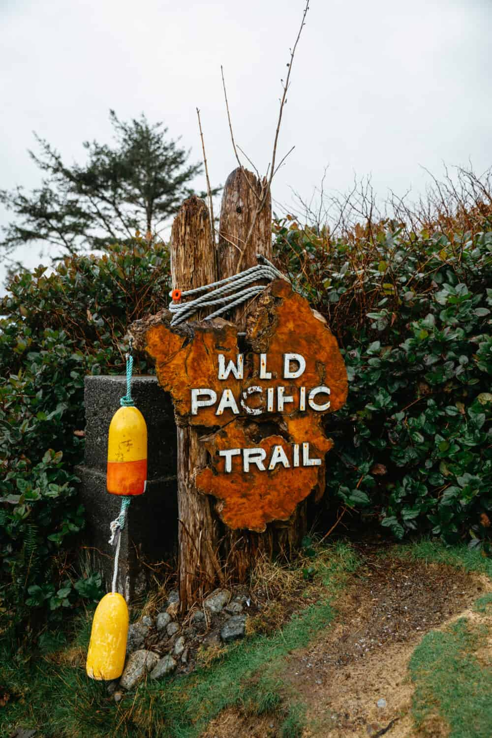 Wild Pacific Trail Sign - Ucluelet, Vancouver Island