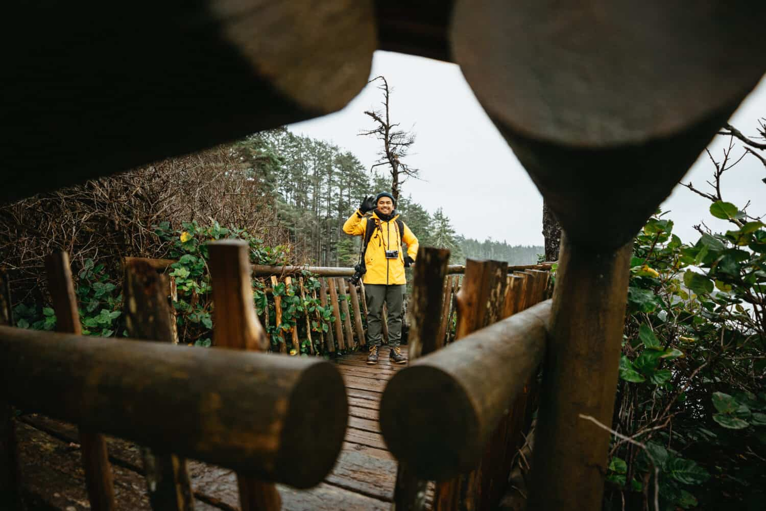 Berty Mandagie standing at Cape Flattery Viewpoint - TheMandagies.om