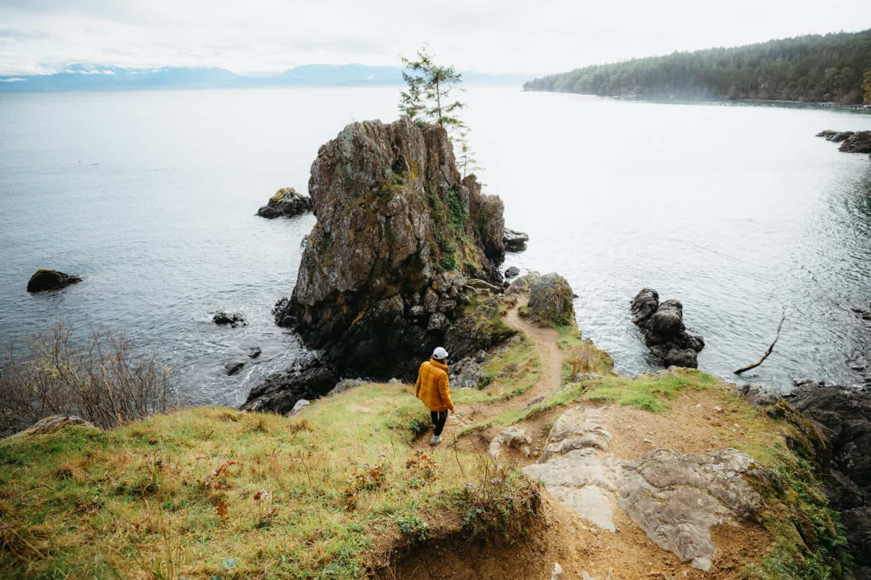 Emily Mandagie hiking trail in East Sooke Park, Vancouver Island BC
