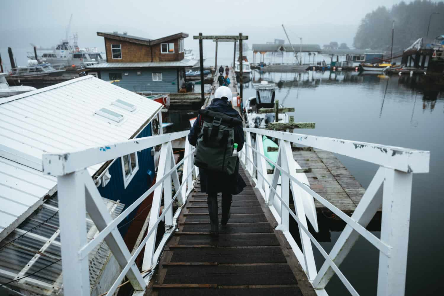 Jamie's Whaling Station Boating Dock in Tofino, BC - TheMandagies.com