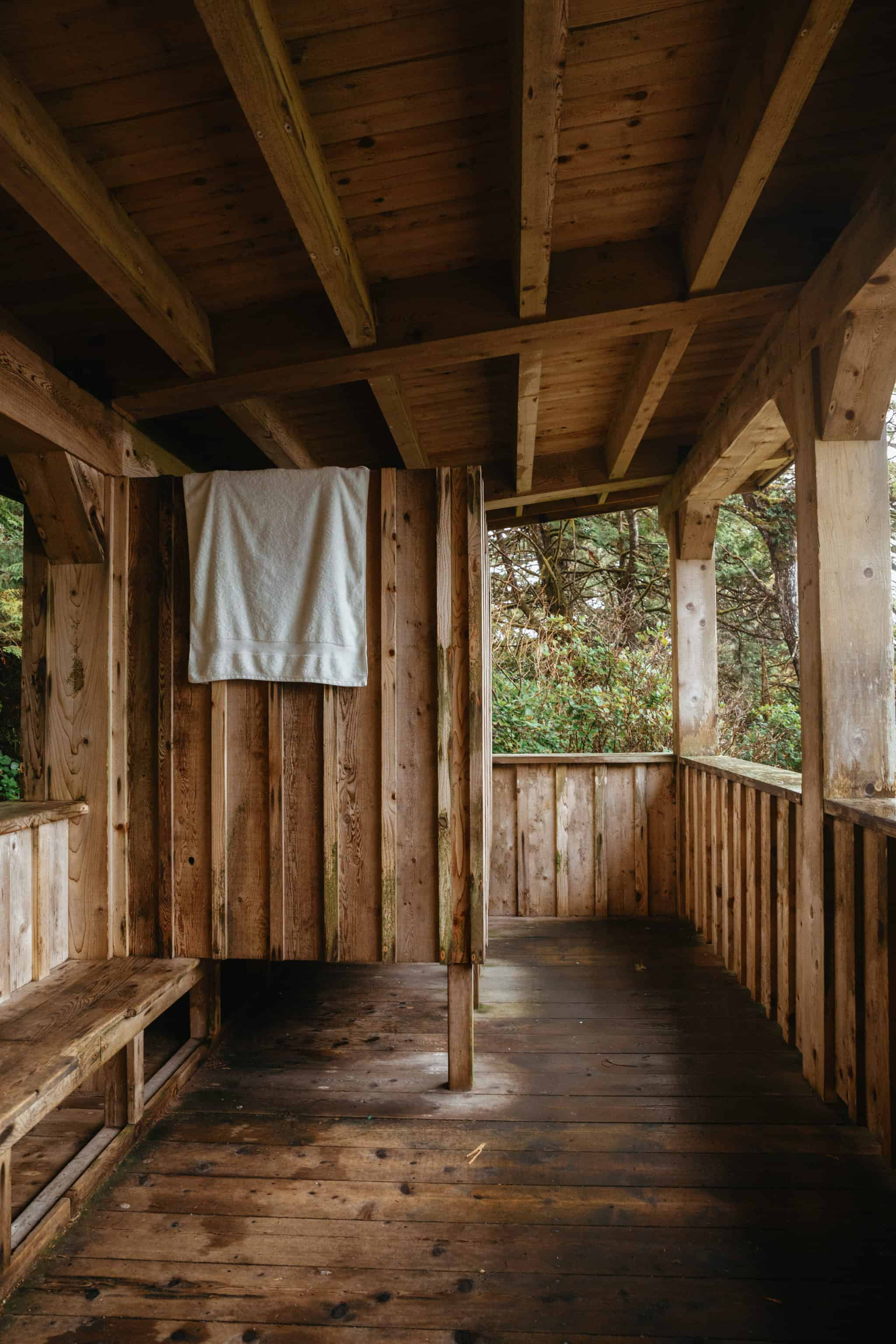 Changing rooms at hot springs cove, BC - TheMandagies.com