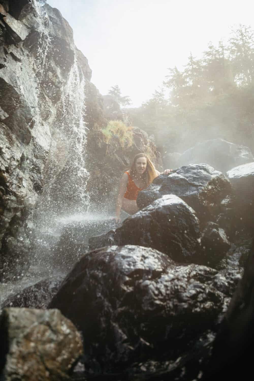Emily Mandagie at Hot Springs Cove BC - TheMandagies.com