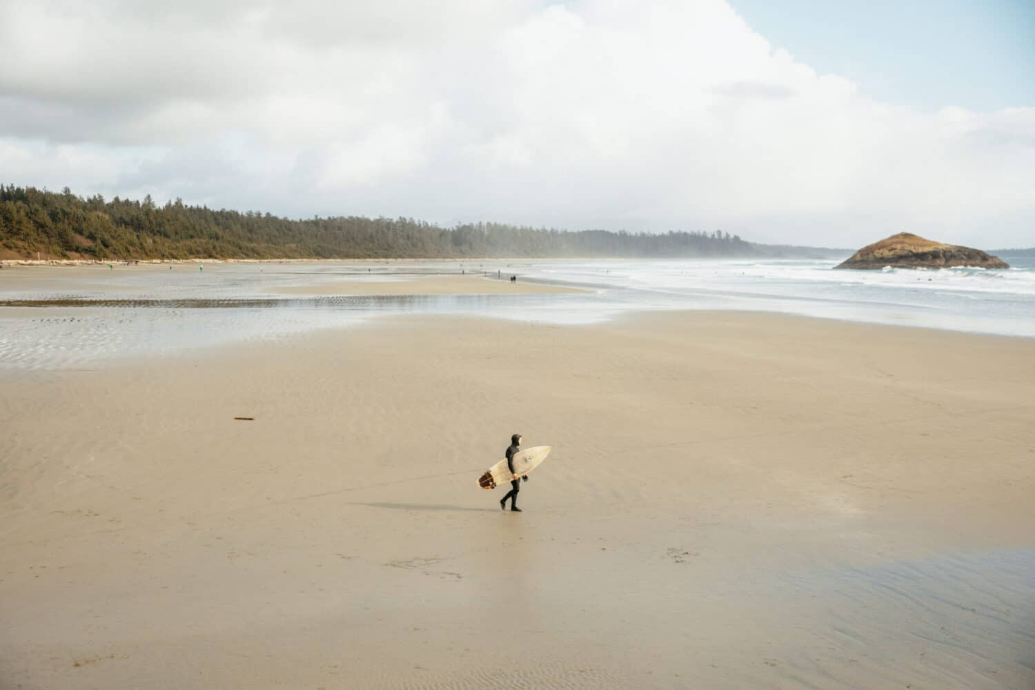 Man surfing in Tofino, BC