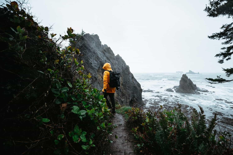 Berty Mandagie, hiking at Rialto Beach - TheMandagies.com