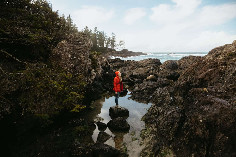 Emily Mandagie exploring Pacific Rim National Park - TheMandagies.com