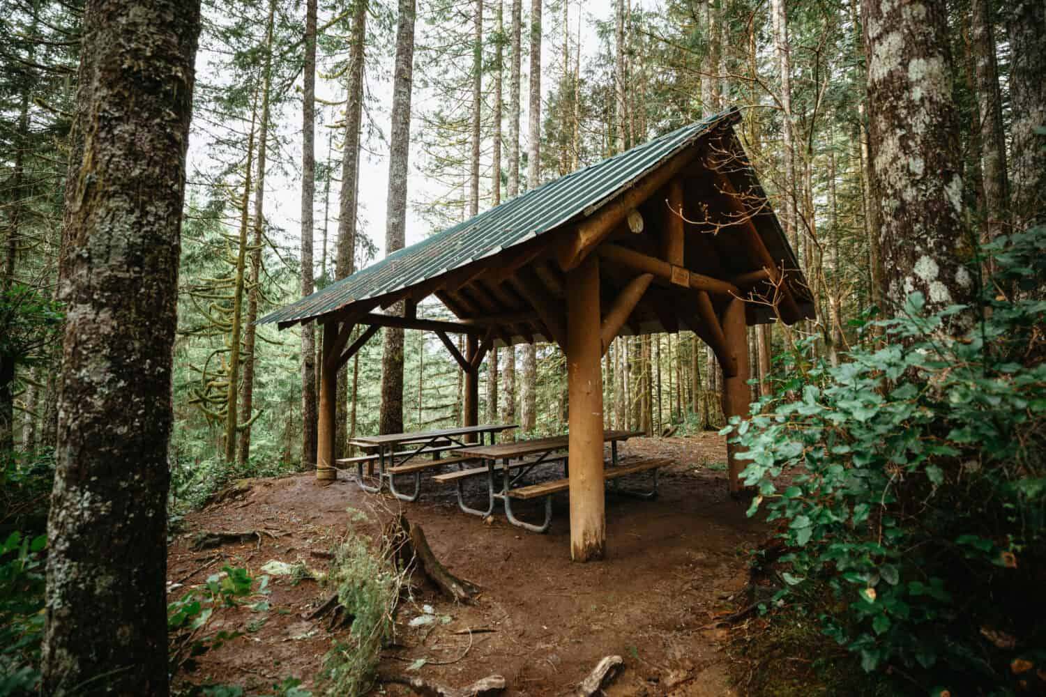 Picnic Shelter on Wallace Falls Trail, Wallace Falls State Park - TheMandagies.com