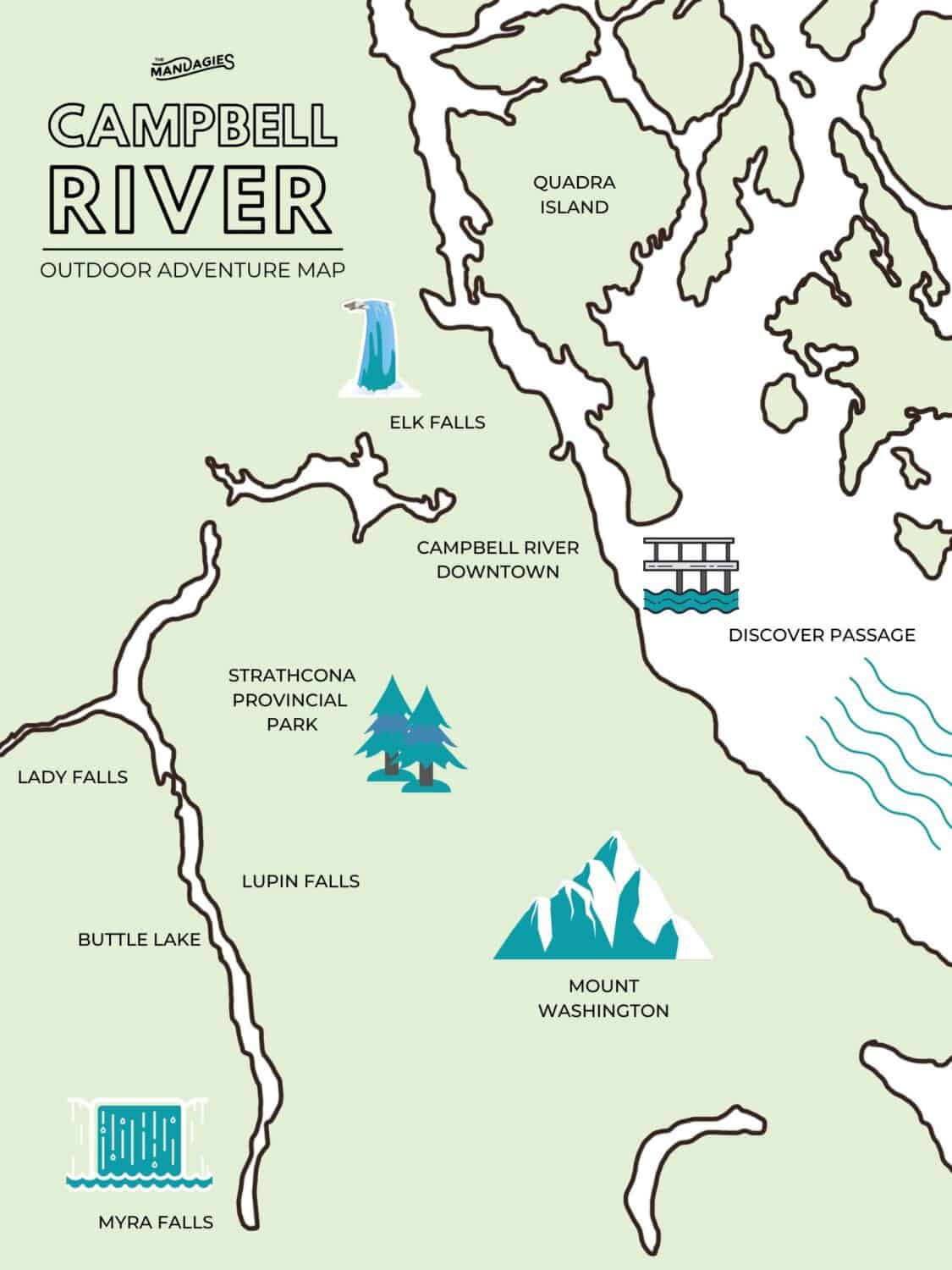 Things To Do In Campbell River Map - TheMandagies.com