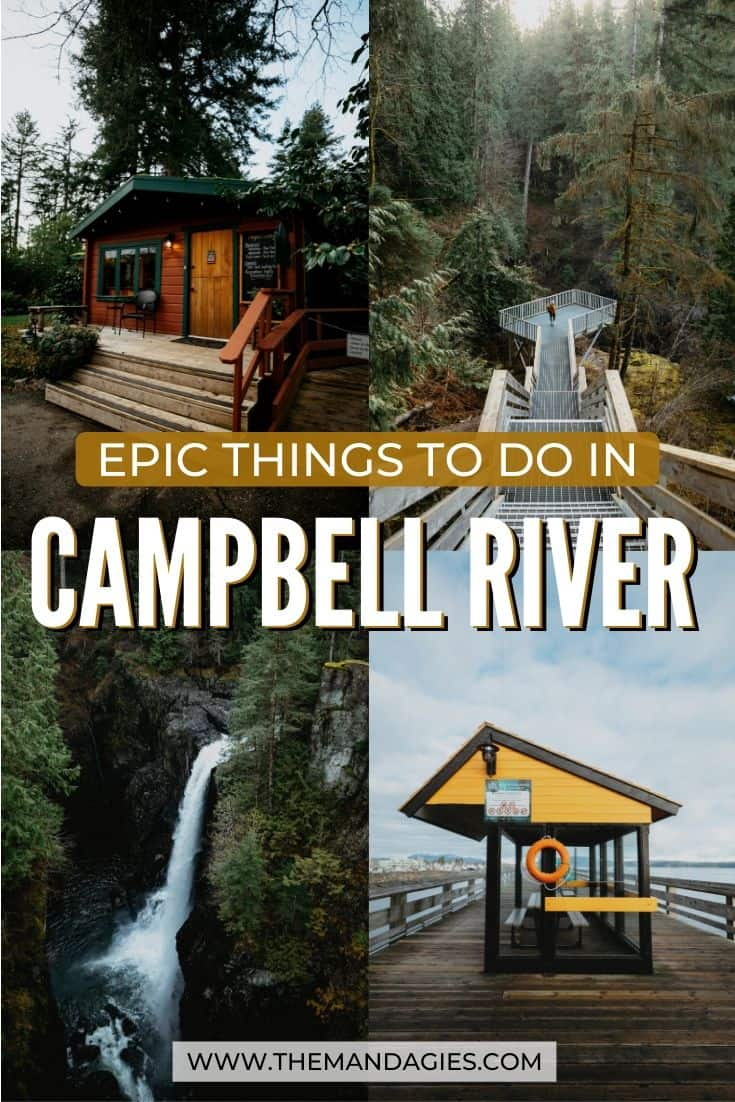 Traveling to Vancouver Island, BC? Consider a stop on the Discover Passage on the North Island! There are so many things to do in Campbell River, including fishing, hiking, Elk Falls Suspension Bridge, Myra Falls and so much more! Find out the best Campbell River trip right here! #canada #vancouverisland #campbellriver #britishcolumbia #elkfallsprovincialpark #sunrise #travel #westernUSA #photography #landscape #strathconaprovincialpark #mountwashington