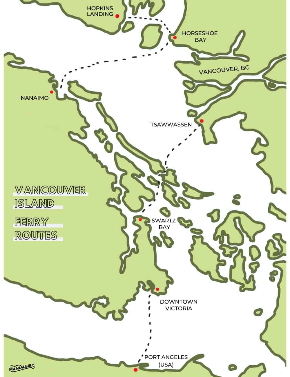 Ferry To Vancouver Island Route Map TheMandagies.com