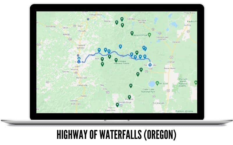 Highway of Oregon Waterfalls Road Trip
