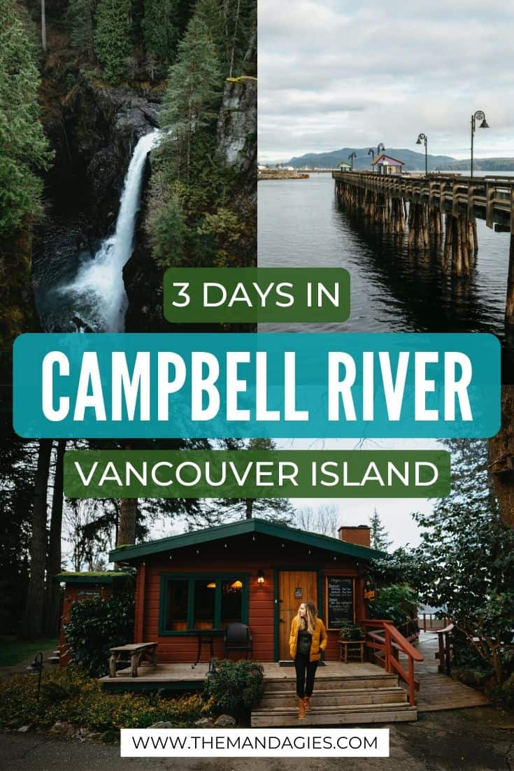 Traveling to Vancouver Island, BC? Consider a stop on the Discover Passage on the North Island! There are so many things to do in Campbell River, including fishing, hiking, Elk Falls Suspension Bridge, Myra Falls and so much more! Find out the best Campbell River Itinerary right here! #canada #vancouverisland #campbellriver #britishcolumbia #elkfallsprovincialpark #sunrise #travel #westernUSA #photography #landscape #strathconaprovincialpark #mountwashington