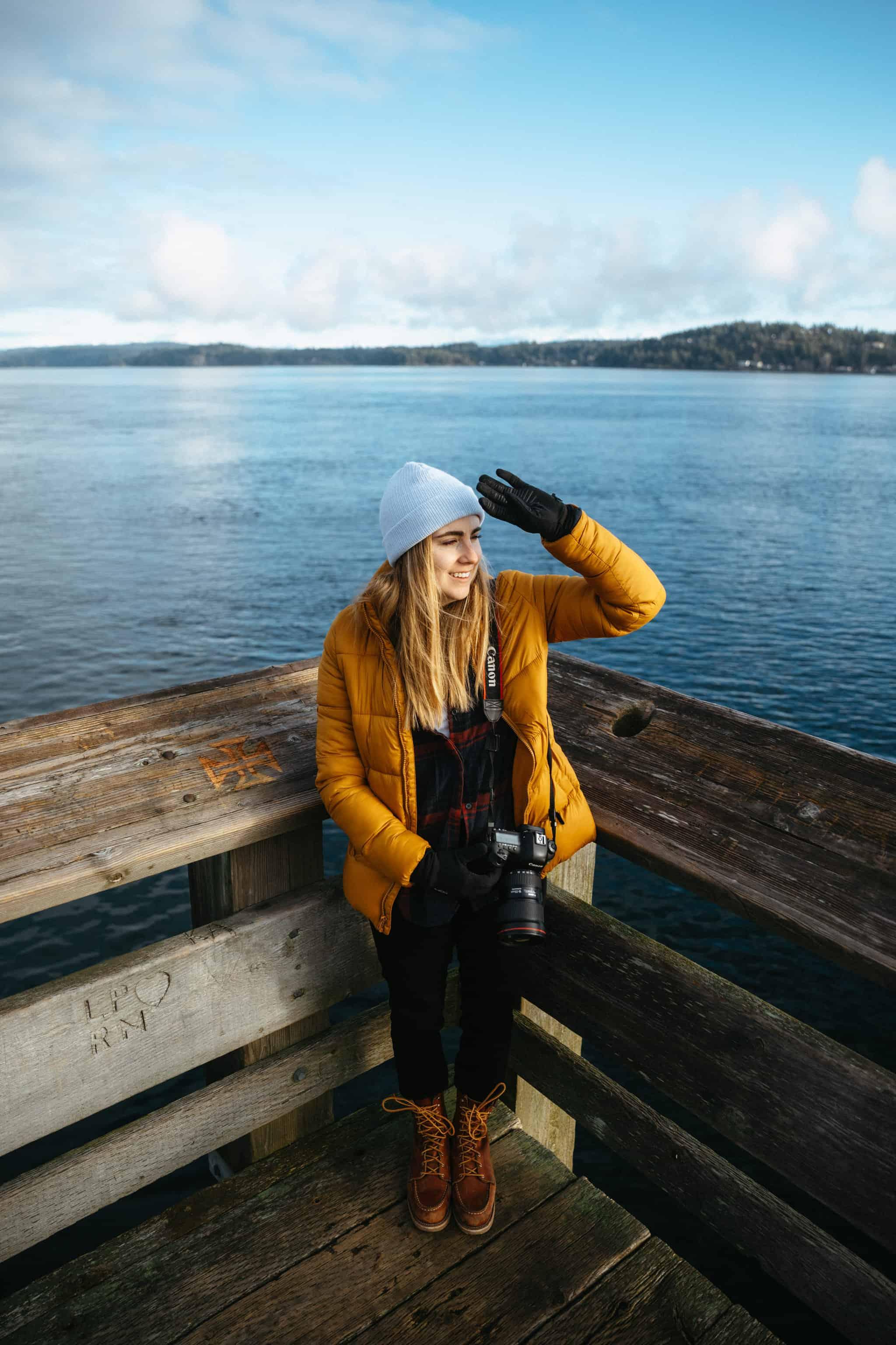 Emily Mandagie on Discover Pier, Campbell River - TheMandagies.com