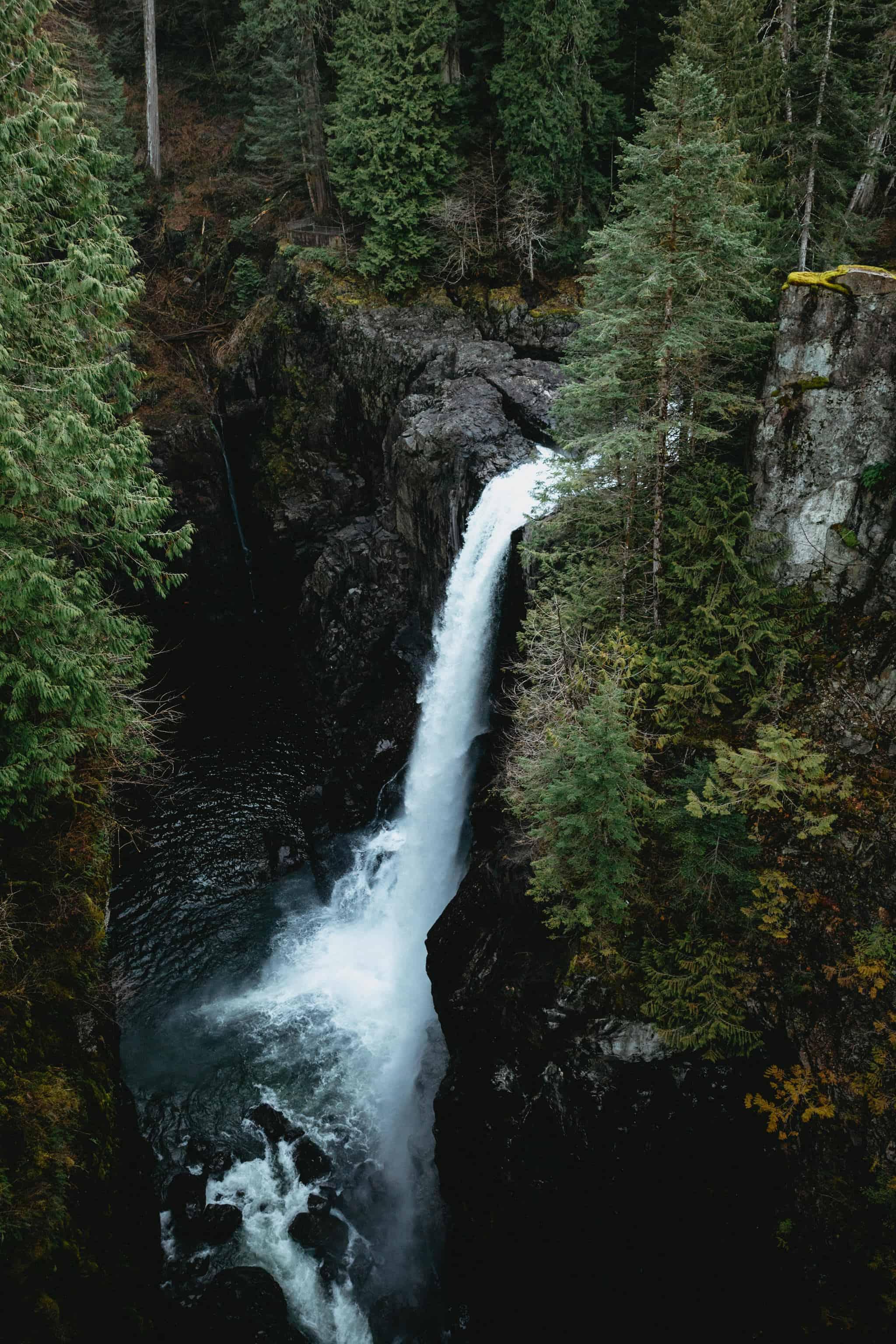 View of Elk Falls Campbell River, BC - TheMandagies.com